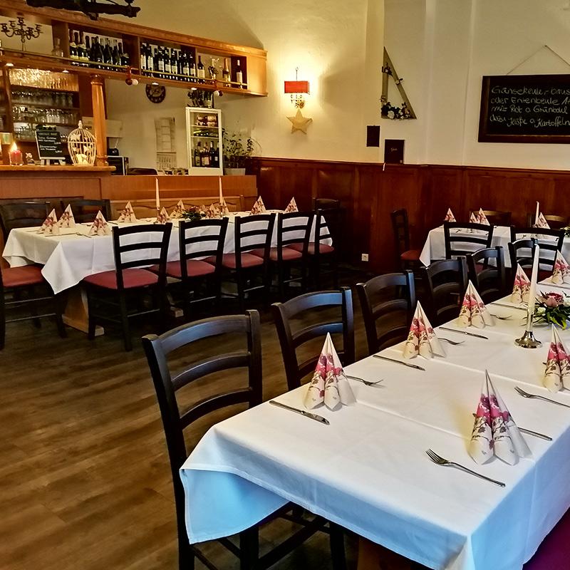 Gaststätte Daus-Berg in Werder an der Havel - Feierlichkeiten Tisch Dekoration2